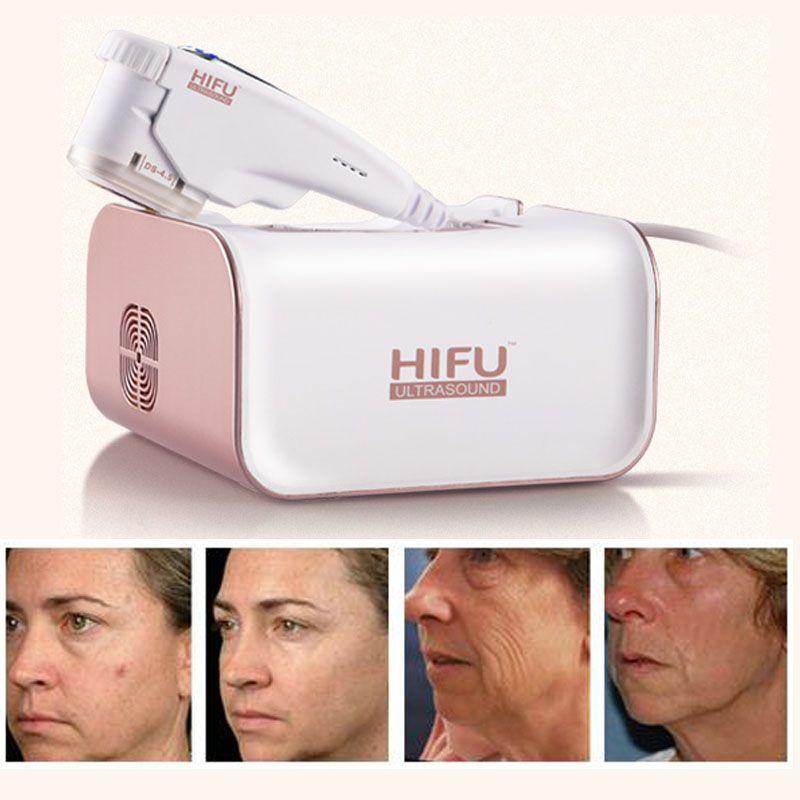 Taşınabilir HIFU Kırışıklık Kaldırma Yüz Kaldırma Yüksek Yoğunluklu Odaklı Ultrason Mini HIFU Makinesi