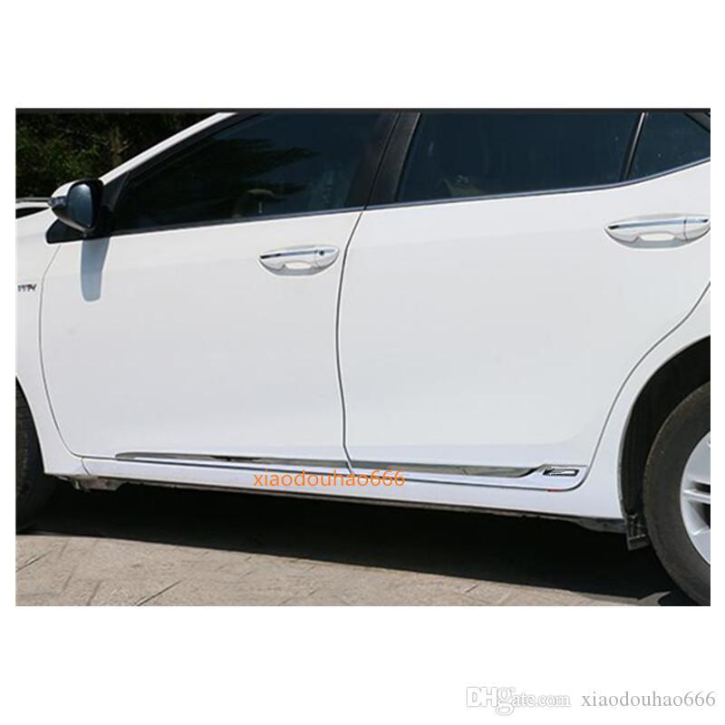 Hochwertiges heißes Auto ABS-Chrom-Seitentür-Körper-Trimm-Stick-Lampen-Plattenform 4pcs für Toyota Corolla Altis 2014 2015 2016