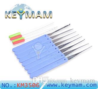 Haute qualité KLOM 12pcs cassé clé extracteur kit pick lock set serrurier outils retrait crochets aiguille