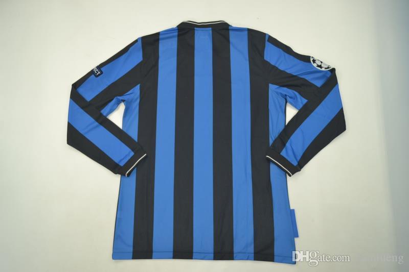 sport jersey 2010-2011inter UCL final detail long sleeve home retro jerseys STANKOVIC J.ZANETT MILITO CLASSIC jersey