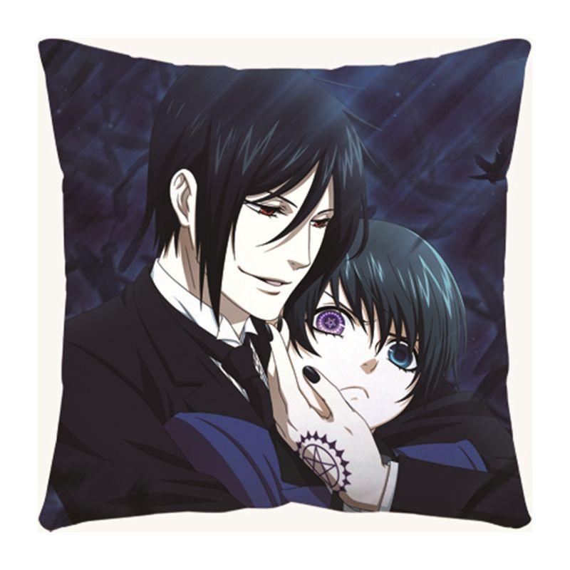 Cartoon Black Butler Anime Kuroshitsuji Ciel home Square Pillow Customize gift