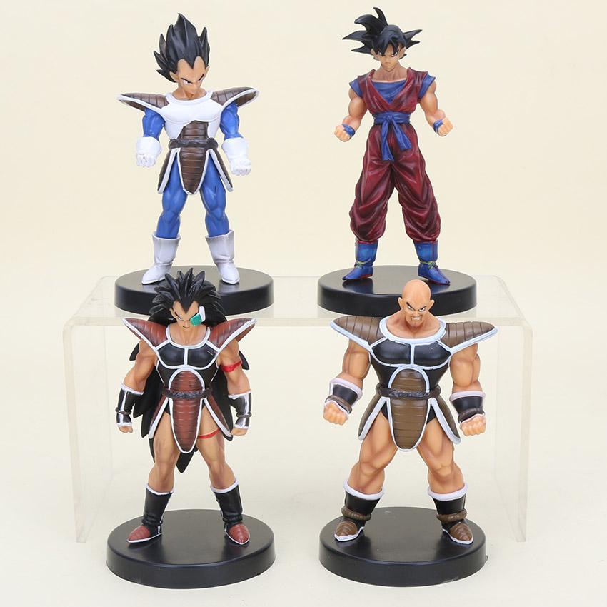13Cm 4Pcs /Lot Anime Anime Dragon Ball Z Action Figures Dragonball Son Goku Vegeta Raditz Nappa Kinyo Pvc Figure Children Toys