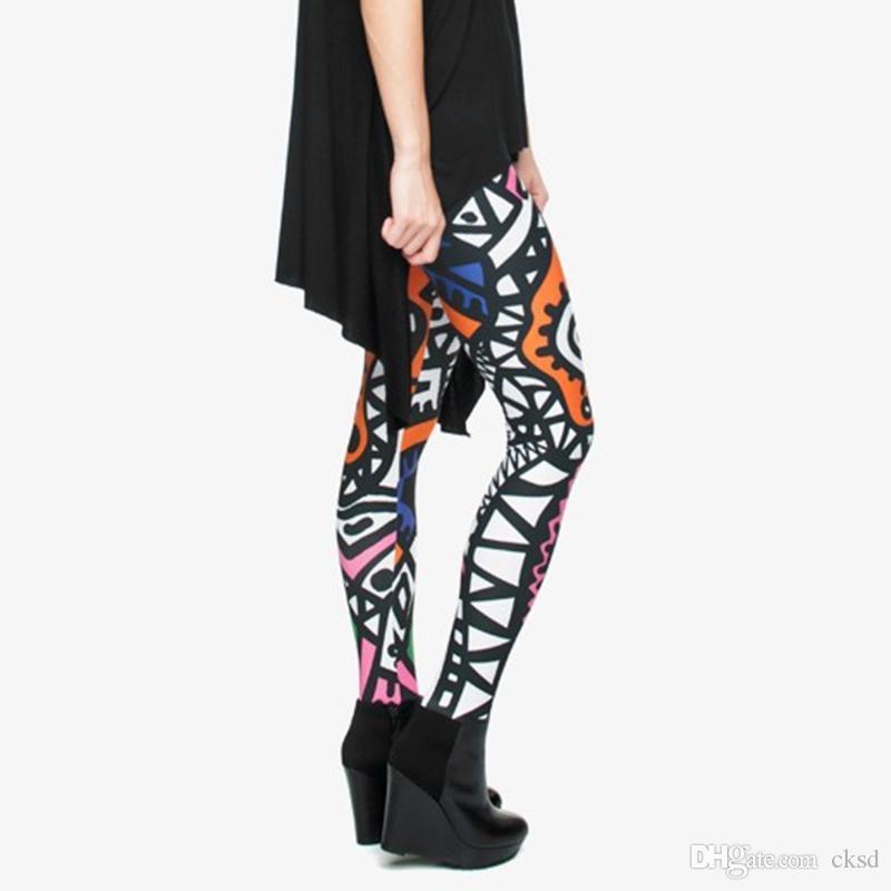 Nuove donne di alta elasticità Pantaloni yoga 3D rose Stampa donna legins Abbigliamento sportivo slim Fit palestra allenamento Yoga plus size Pantaloni PWDK26WR
