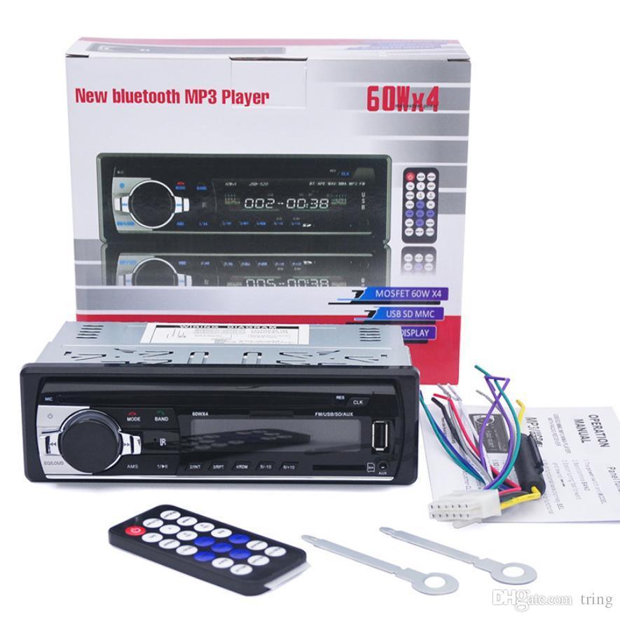 Radio FM per auto Radio FM Supporto per lettore audio MP3 Telefono Bluetooth con porta MMC USB / SD Car Electronics In-Dash 1 DIN