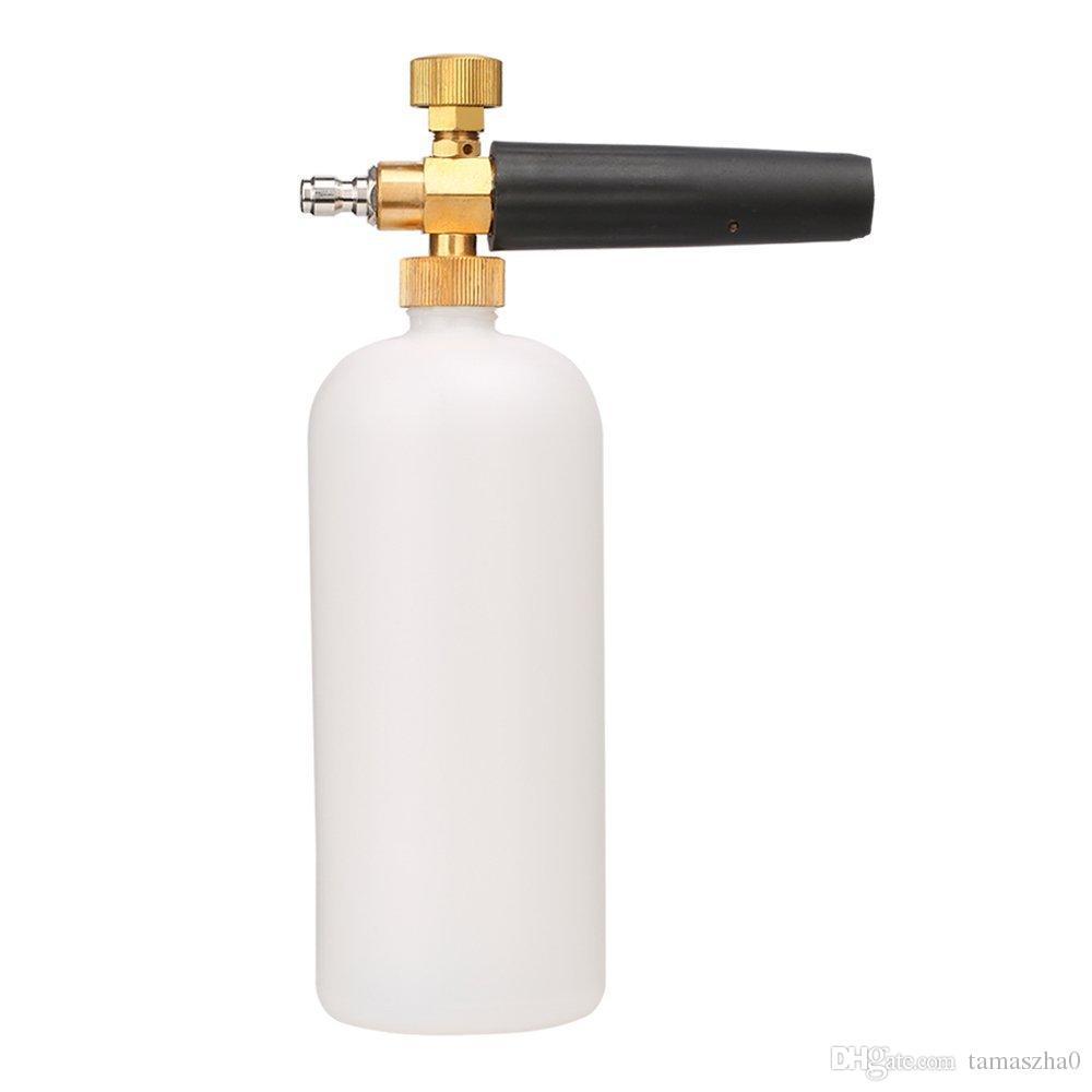 ЛОНФЕН LFCP14 регулируемые пена Кэннон бутылка 1 литр, снег пена копье с 1/4 коннектор пены Blaster для давления шайба пистолет