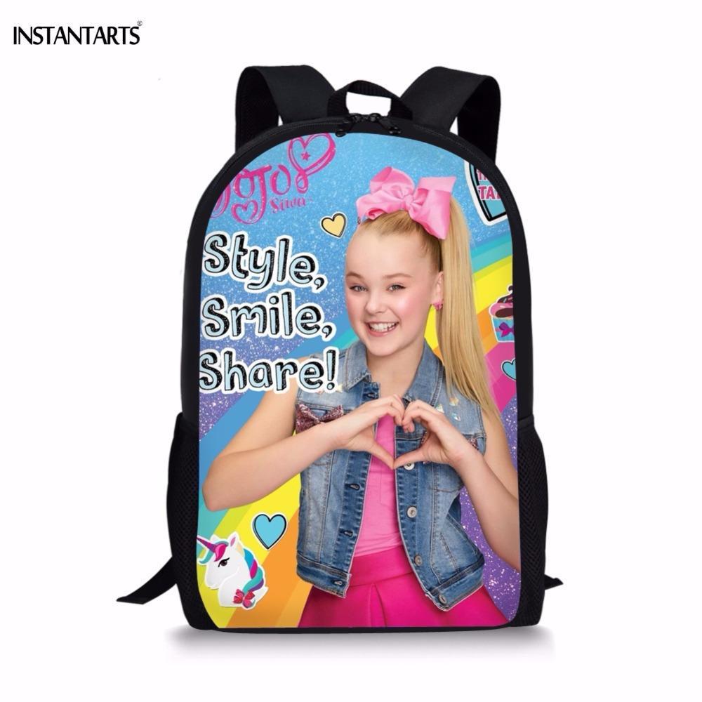 UK Kids JoJo Siwa Bag Girls Backpack Rucksack Student School Shoulder Bags Gifts