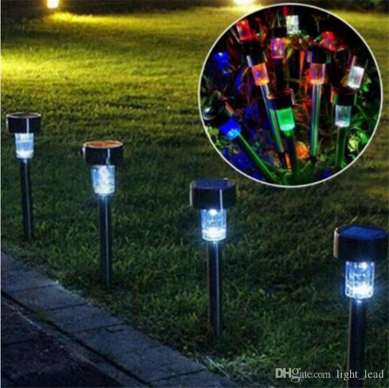 Solar Lights Stainless Steel Gardern Pathway Lawn Lamps Landscape Decoration LED White Light Solar Power Ground Insert Sense Lamp