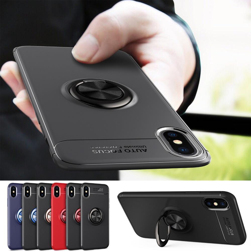 NUEVO Soporte para teléfono con soporte para teléfono para iPhone X XS XR Max Soporte magnético para coche Funda de silicona suave para iPhone 10 6 6s 8 7 Plus Coque