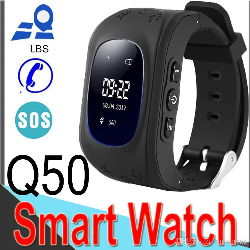 Q50 Smart Watch for Kids LBS GSM Locator Tracker Anti-Lost Remote Monitor Children Anti-Lost with Retail Box XQ4 Outdoor Wearable Technology