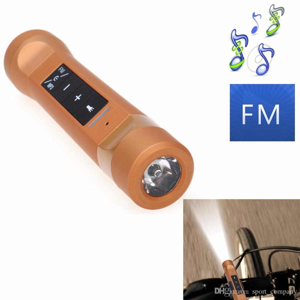 4 in 1 Multi-function Wireless Bluetooth Speaker LED Flashlight Outdoor Bike Cycling Torch Light With Power Bank Speakers Support TF FM MP3