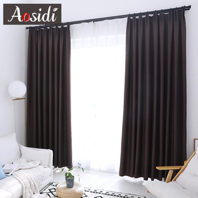 2019 Modern Blackout Curtains For Living Room Bedroom Window Solid Color  Cloth Curtains Ready Made Finished Drapes Blinds Custom Made From Isaaco,  ...