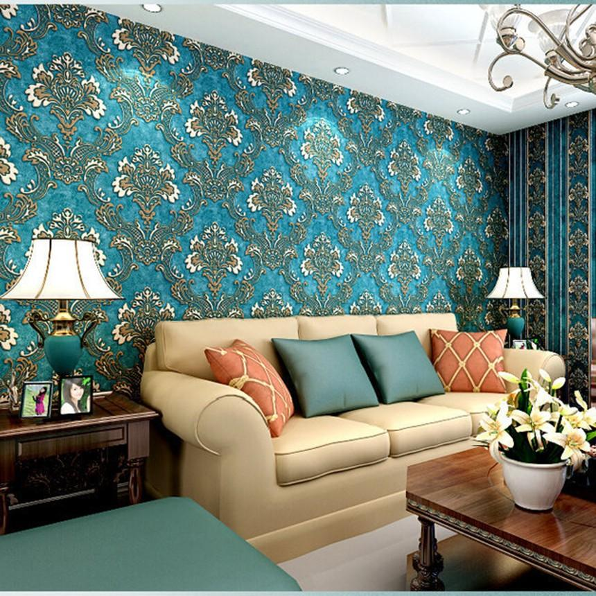 Deep Embossed 3D Brick Wall Paper Modern Vintage Modern Damask Feature Paper Wallpaper Roll For Living Room Wall Covering Decor