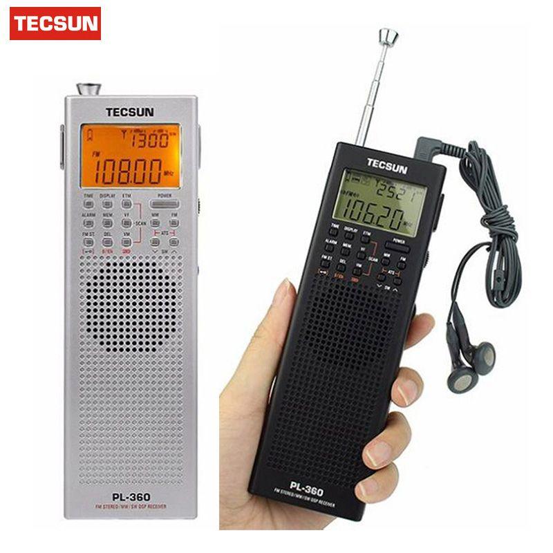 Tecsun PL-360 PL 360 PL360 Digital Radio AM FM SW MW LW Pocket Recorder Shortwave PLL DSP ETM SW MW LW Receiver Radio