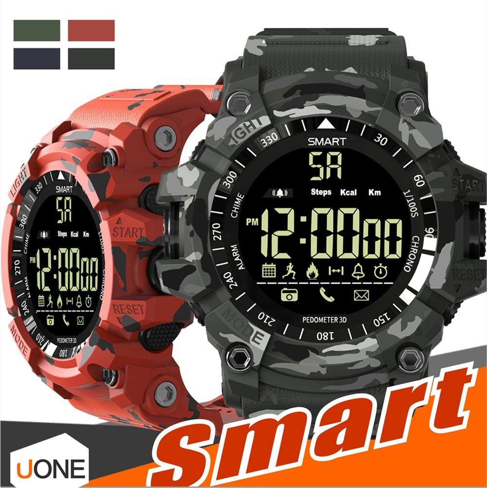 EX16 플러스 스포츠 스마트 시계 블루투스 IP67 방수 원격 카메라 피트니스 추적기 착용 할 수있는 기술 실행 손목 시계