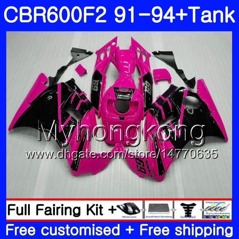 Corpo Para HONDA CBR 600 F2 FS CBR600 F2 1991 1992 1993 1994 1MY.50 Rosa Rosa CBR600FS CBR 600F2 CBR600RR CBR600F2 91 92 93 94 Kit de Carenagem