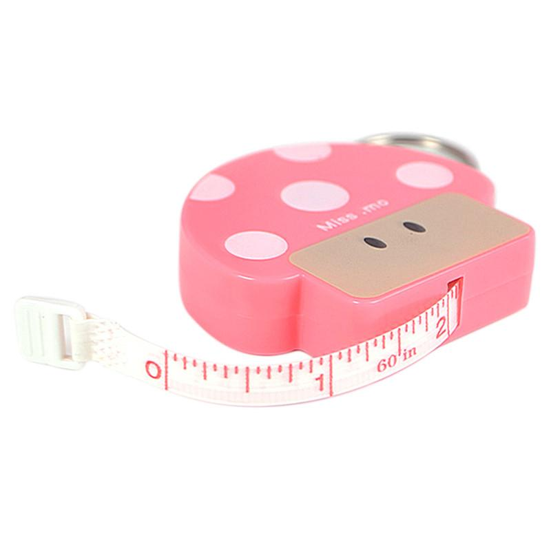 Red Retractable Tape Measure Body Measure Sewing Cloth Tailor Soft Flat 1.5m