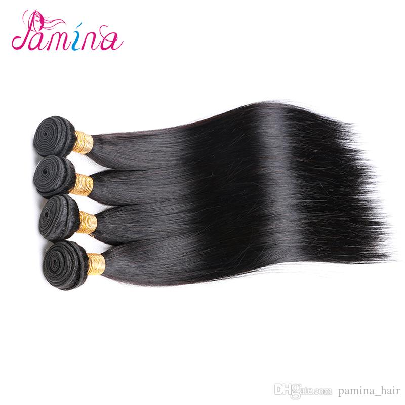 1 Bundles 8-28 inch Brazilian Virgin Remy Human Hair Loose Wave water Straight Deep Curly Body Wave Straight Color 1B Black