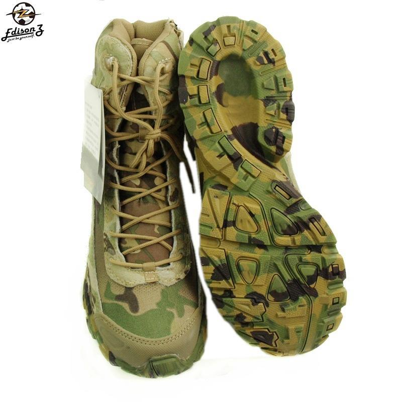 Multicam Military Hunting Tactical Boots Camouflage Combat Outdoor Army Hiking Travel Shoes Leather
