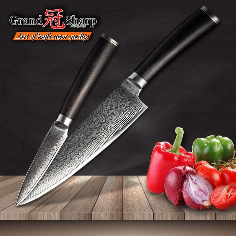 Grandsharp Knife Set Chef Knife Set Chef Paring Damascus Kitchen Knives Vg10 Japanese Damascus Steel Professional Chef Knives Gift Box Designer Kitchen Knives Different Kitchen Knives From Grandsharp888 59 73 Dhgate Com