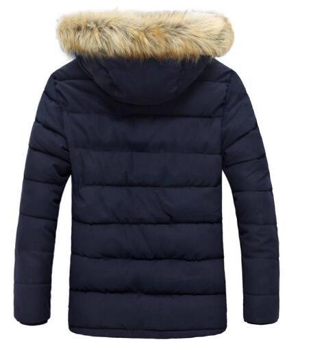 Großhandel Markendesigner Herren Jacken Und Mäntel Dicker Pelzkragen Wintermantel Herren Trend Kapuze Parka Blouson Homme Hiver Fashion Brand 3 Farbe