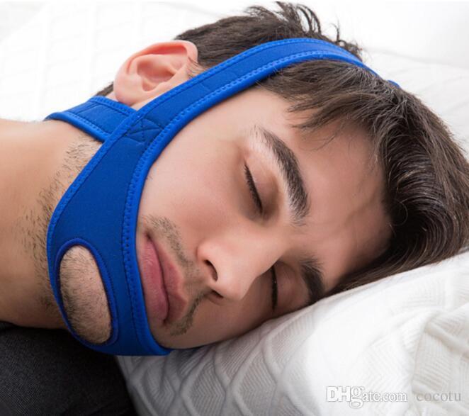 Cintura anti russamento Cinturino in neoprene Stop russare Cintura di sostegno per il mento Anti Apnea Soluzione per la mascella Dispositivo per il sonno 2018 Novità