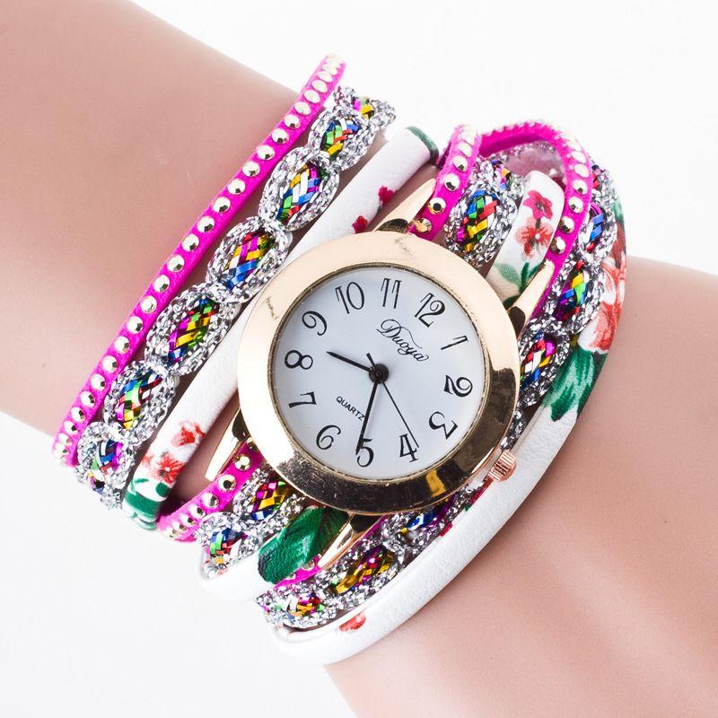 2018 nuevas mujeres de moda de lujo conjunto de ocio Auger cuero analógico acero inoxidable reloj de cuarzo 0241
