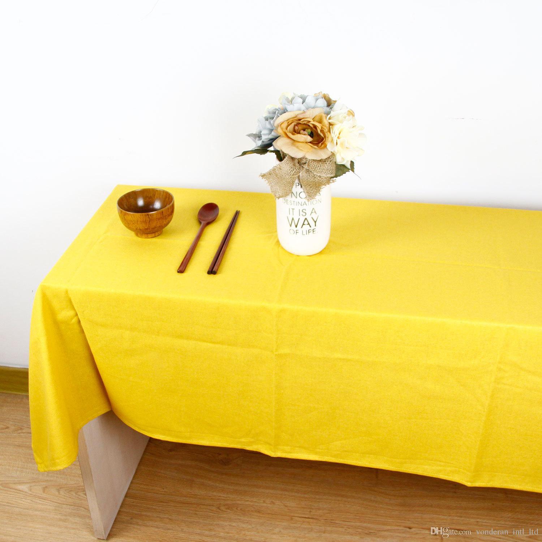 Algodón Mantel de lino Rectángulo Vintage Cena Picnic Mantel Decoración del hogar