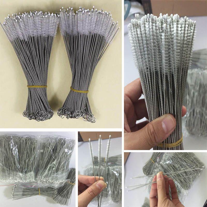 스테인리스 마시는 빨대 청소 브러쉬 파이프 튜브 아기 병 컵 재사용 가능한 가정용 청소 도구 175 * 30 * 5mm HH7-1071