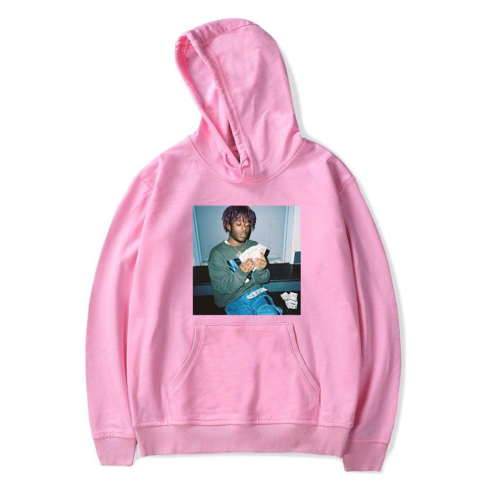 Mens High Street Hooded Hoodies Rappeur Lil Uzi Vert Imprimer V Cou Sweats Pulls Hommes Femmes Hip Hop Veste D'hiver Sweats Plus