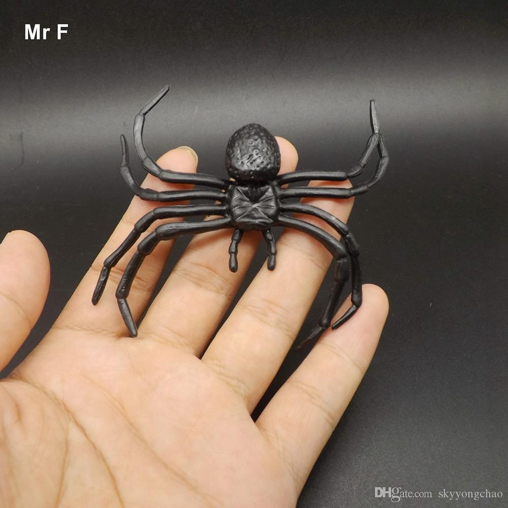 Plastik Örümcek Cadılar Bayramı Gece Dekorasyon Festivali Parti Komik Şaka Oyuncaklar Çocuklar Prank Modeli Eğitim Pervane Oyuncak