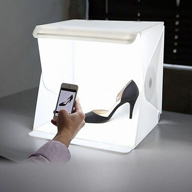 40 x 40 x 40 cm Photo Studio Box Toile de Fond Photographie Intégré Lumière Photo Box pour DSLR Caméra Photographie Box Studio Accessoires