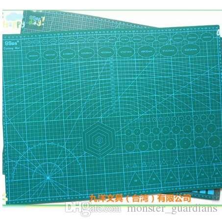 A2 Pvc Dikdörtgen Izgara Çizgileri Kendini Şifa Kesme Mat Aracı Kumaş Deri Kağıt Zanaat DIY araçları 45 cm * 60 cm