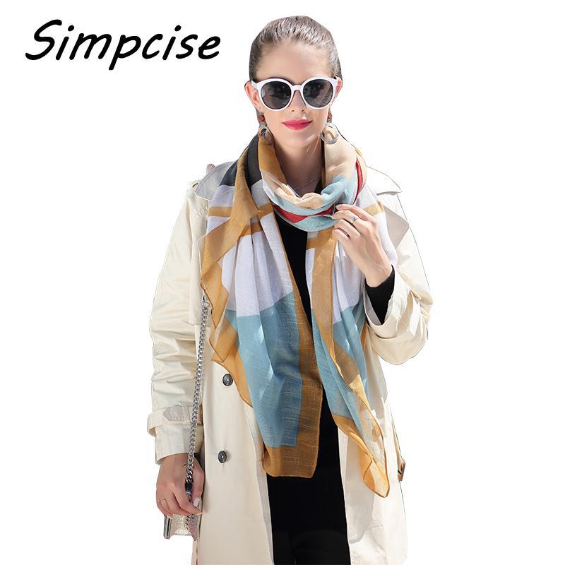 Оптовая большая женщина шарф весна осень женский полосатый вискоза шарф шаль мягкий вуаль foulard V8014