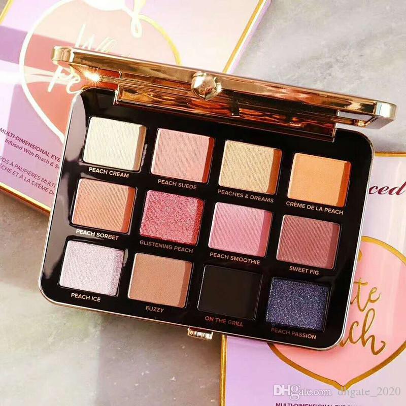 دروبشيبينغ Just Peachy Matte Eyeshadow Palette 12 Colors Eyeshadow Makeup المخملية غير لامع ظلال العيون لوحة