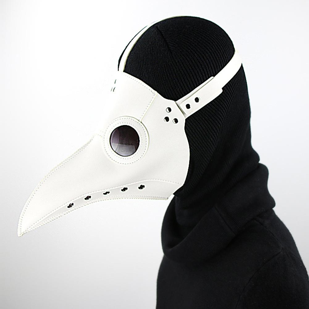 Halloween Horror Party Mask Steampunk Plague Doctor Masks Masquerade PU Leather Halloween Ball Cosplay Props Birds Beak Masks