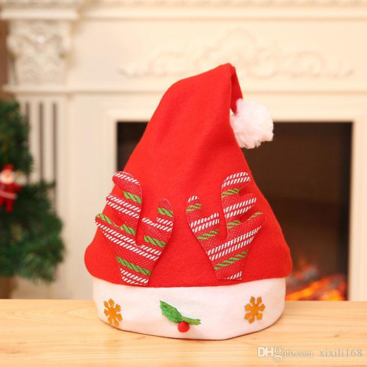 2018 venda quente Chapéu de Natal das Crianças de Natal Decoração Criativa High-grade Elk Velho Boneco de Neve Chapéu De Natal