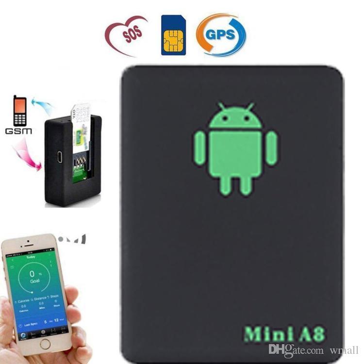 미니 A8 자동차 GPS 트래커 글로벌 실시간 4 주파수 GSM / GPRS 보안 자동 추적 장치 지원 안드로이드 어린이를위한 애완 동물 차량
