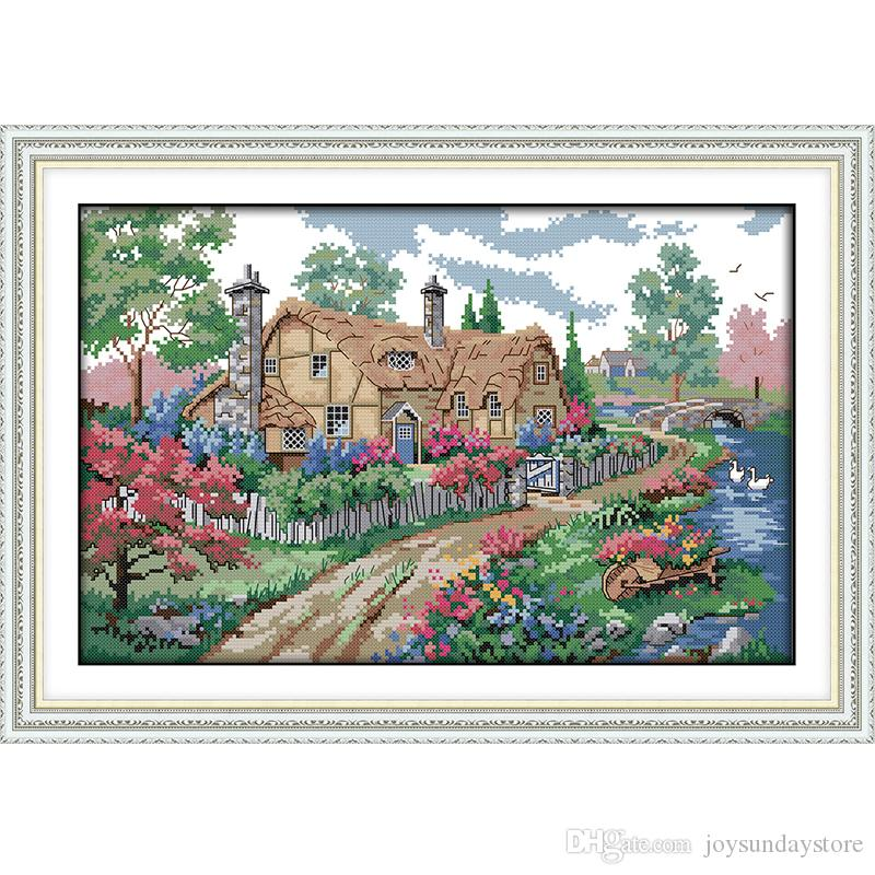 """/""""Succulents cactus/"""" Flowers 14ct Counted Cross Stitch Kit 11ct Stamped 3 styles"""