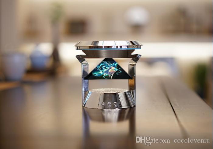 Hologram 3D Piramit Ekran Holografik Ekran Piramit holografik bluetooth hoparlör, Companion robot, sanal gerçeklik, Sesli Etkileşim