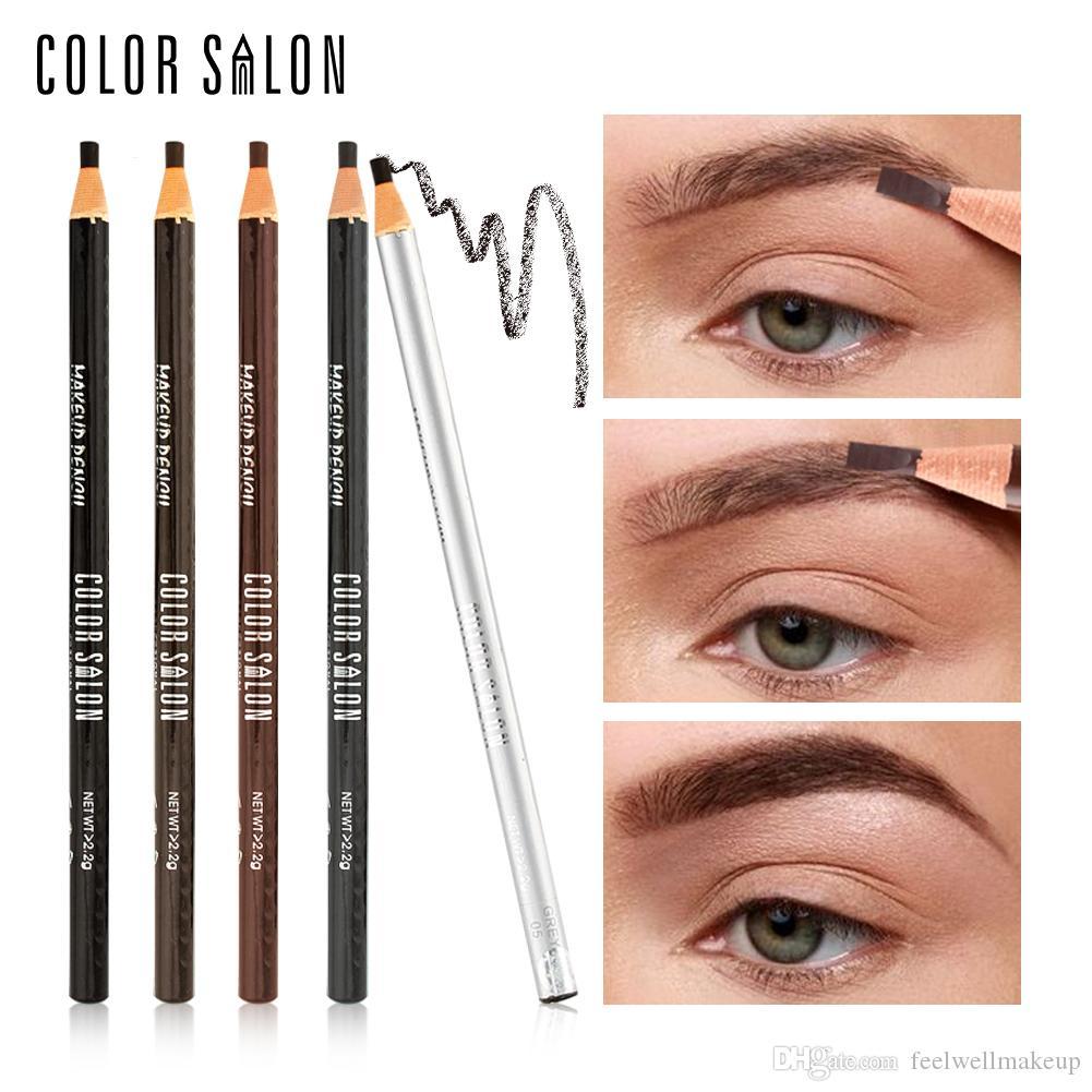 Color Salon Eyepow Lápiz Profesional Impermeable EyeBrow Lápiz Cosméticos de Belleza Eye Pen Maquillaje Herramienta Mejorador de Cejas Natural