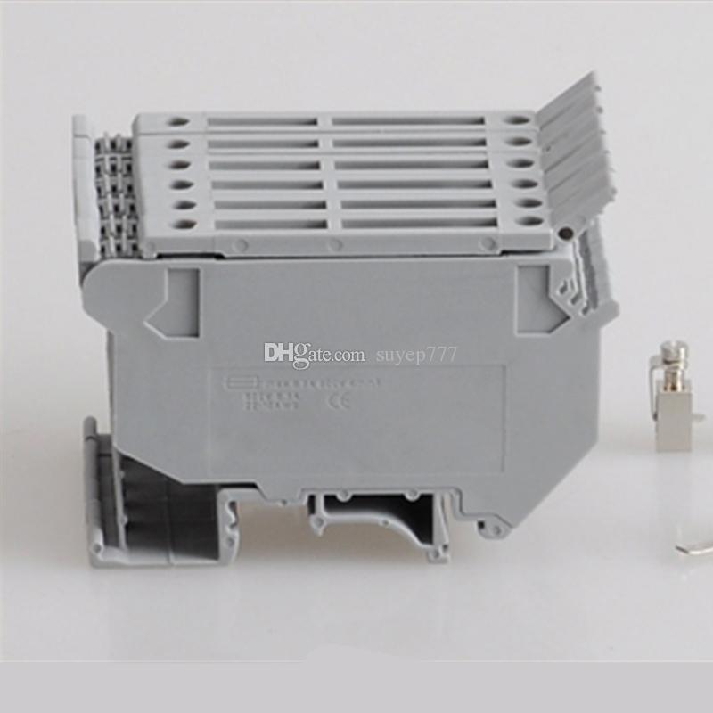 10PCS Contact Type UK 600VAC Morsetto componibile modulare grigio 4mm UK5-HESI