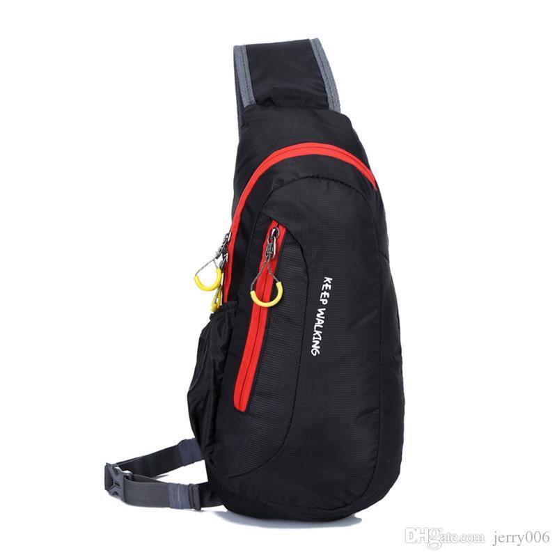 Bolsa de deporte impermeable Bolsa de viaje para acampar al aire libre Bolsas de deporte de pecho Mochila para mujeres Hombres Mochilas de hombro Mochila