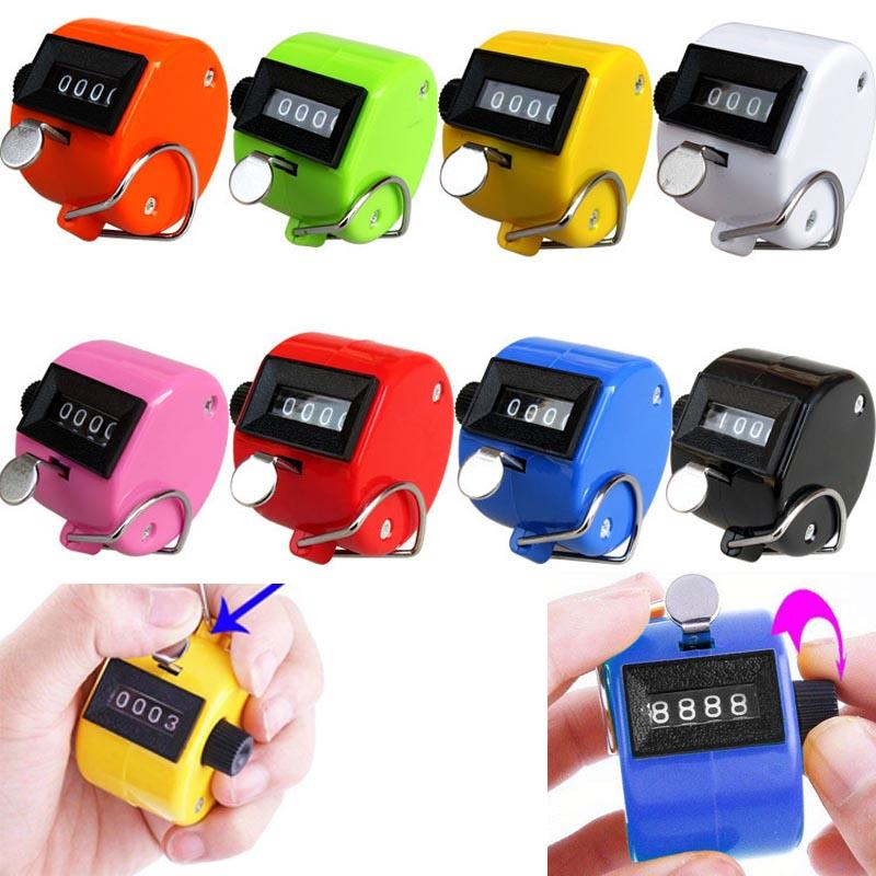 digital Hand held Tally Counter 4 Digit Number Clicker Manual Counting Tally row Golf counter digital click finger
