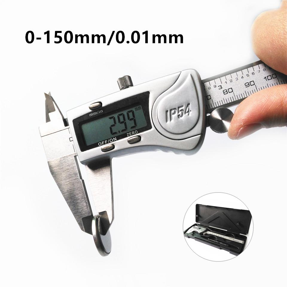 YIKODA 0-150mm Elektronische Fasergenauigkeit 0,01 mm Messschieber und Messwerkzeug Messgerät Lineal Digitale Messschieber Mikrometer-Messung