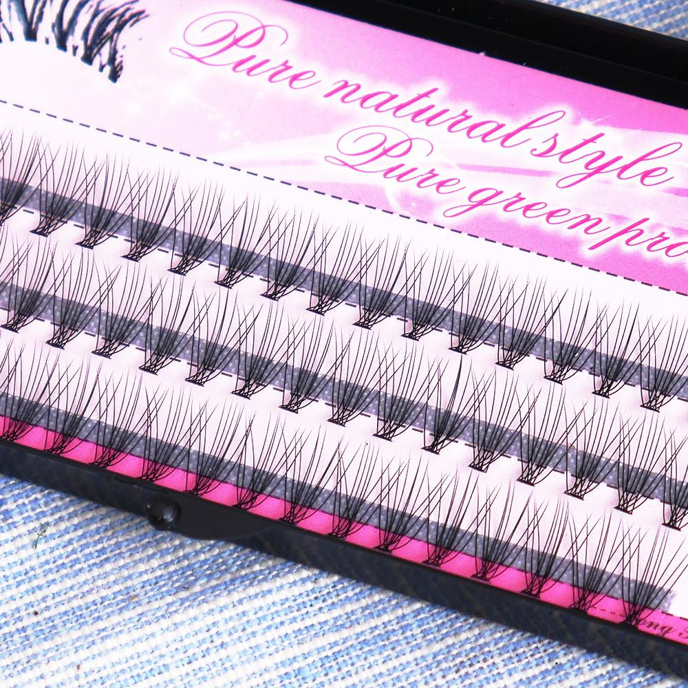 6/8/10/12/14mm New 60 Pcs False Eyelashes Professional Makeup Natural Clusters Eye Lashes Grafting Fake Eyelashes Extension
