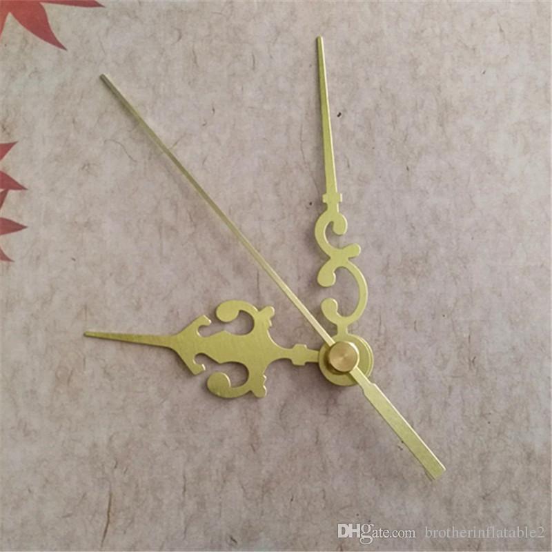 Partihandel 50st guldmetallpekare för DIY Wall Clock Quartz Reparation Tillbehör Kits