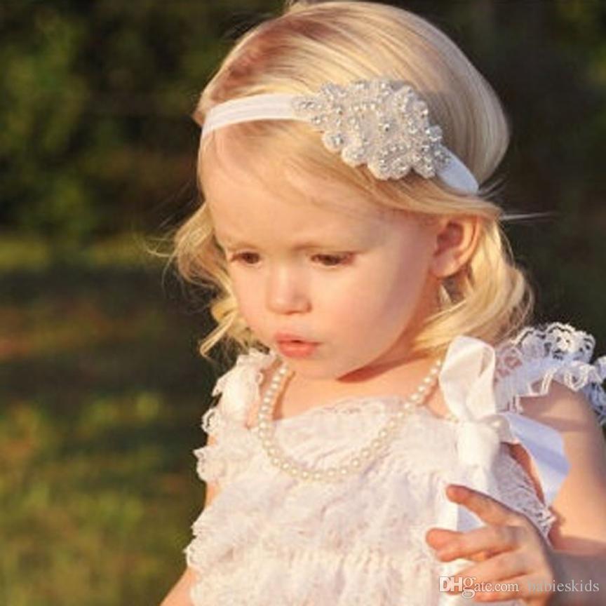 1 set di fiore a piedi nudi e fascia Neonata appena nata Headwear bambino infante dei capretti fascia del piede del fiore accessori elastici dei capelli