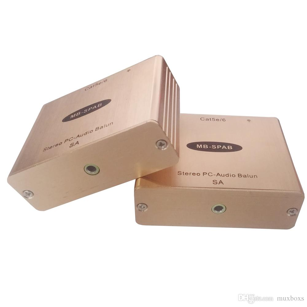 PC-Audio Cat5 AUX Ses için RJ45 3.5 MM Stereo Cat5 Kablo için Atcive Mikrofon Ses Genişletici