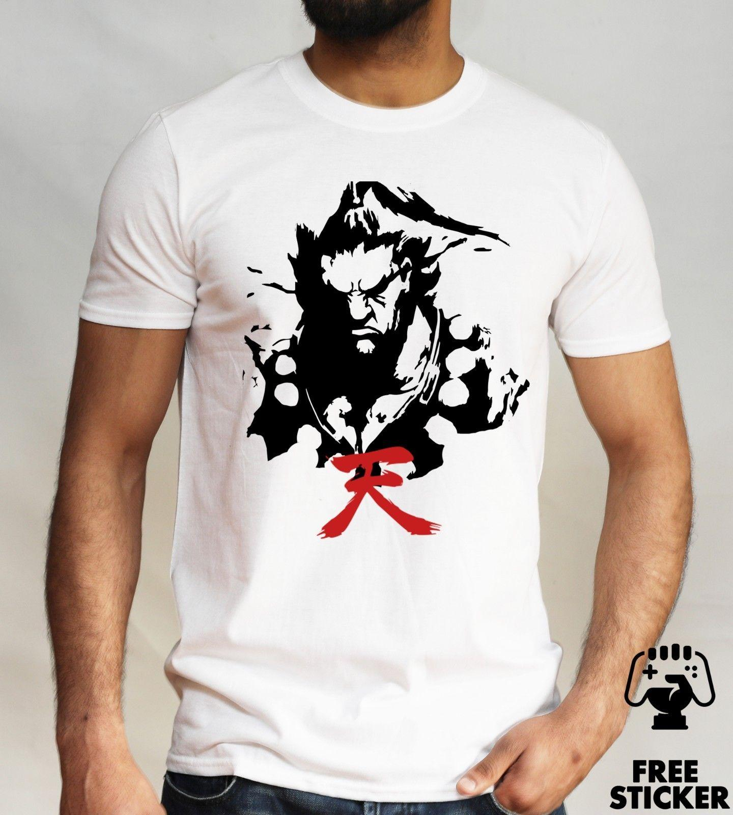 Akuma Japanese Kanji T Shirt Street Fighter Ryu Ken Retro Gamers Gift Top Mens Funny Unisex Casual Tee Gift Cool Shirt Design Tshirts Printed From Micky Tees 12 96 Dhgate Com