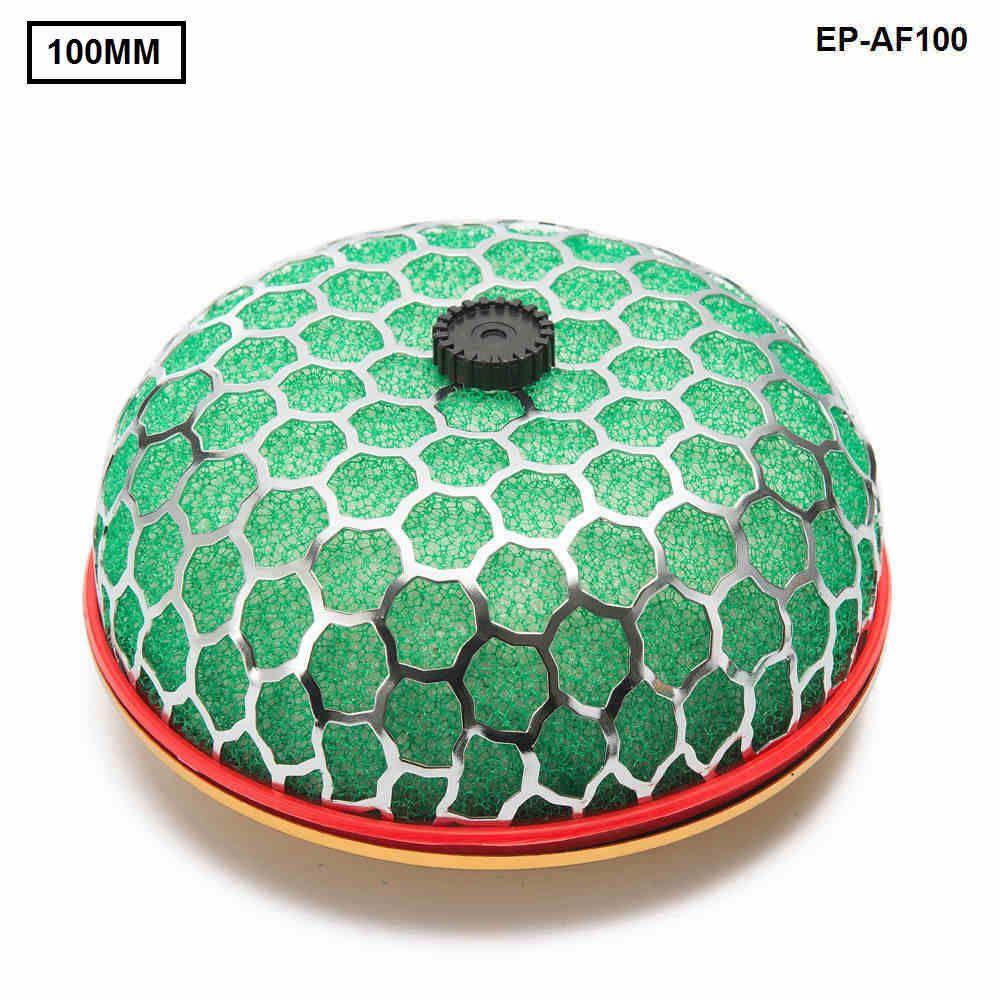 Tansky - Universeller waschbarer Luftfilter Kaliberhals: 100 mm 3 Schichten Schwammluftfilter Mushroom Style für Universal Auto TK-AF100